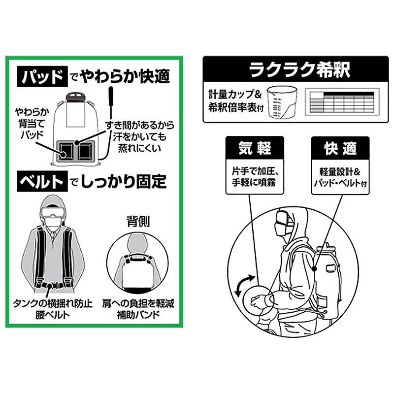 工進 グランドマスター RW-15DX 背負式手動噴霧器 防J【代引不可】           |農業用品販売のプラスワイズ 本店